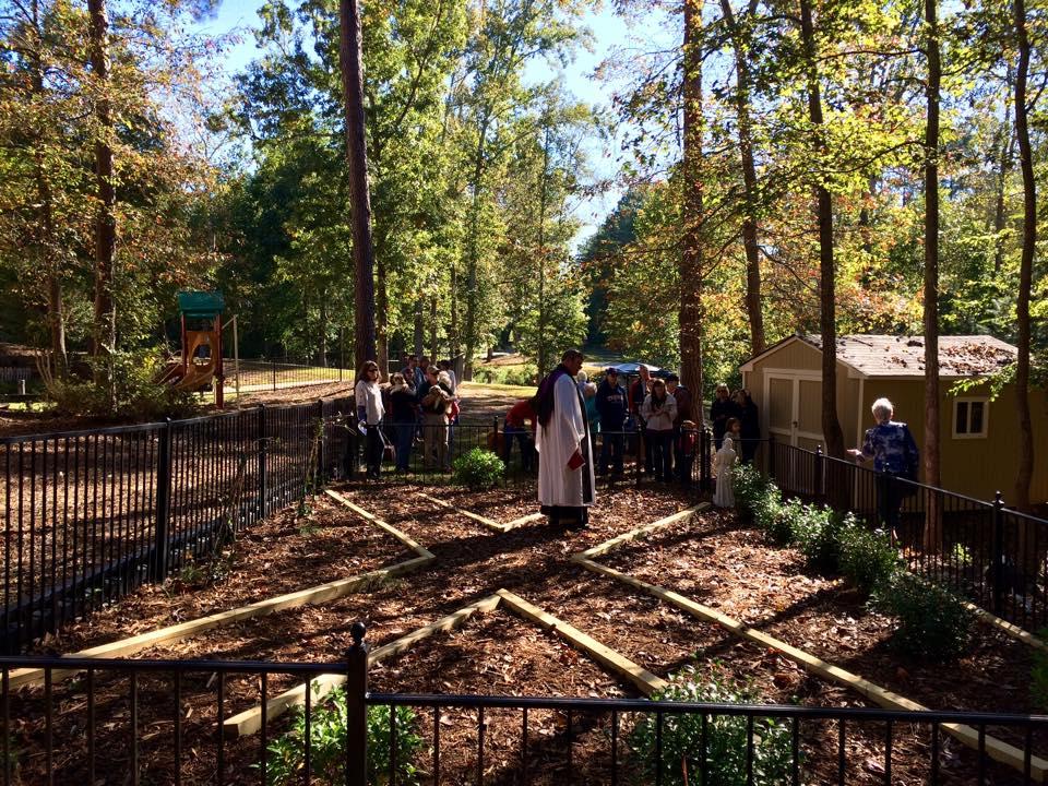Construction and Dedication of the Saint Francis Memorial Garden